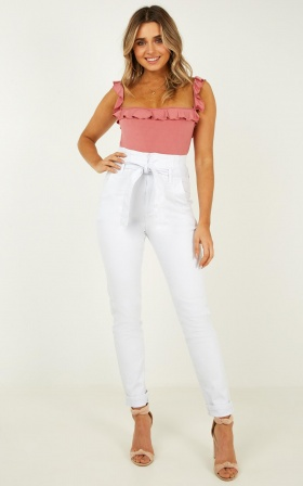 Aubrie Jeans In White Denim