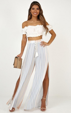 Call Of The Sea Pants In Blue Stripe