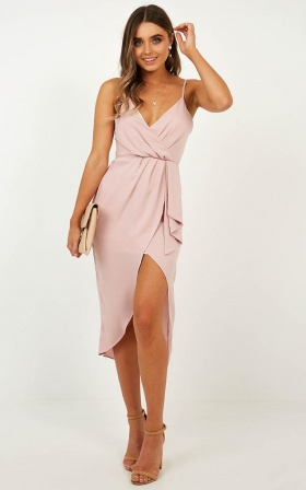Cant Buy My Love Dress In Blush