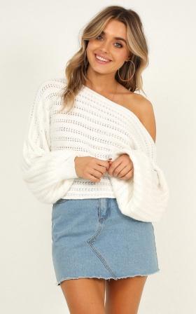 0994c89e4f94 Change Of Season Knit Jumper In Cream ...