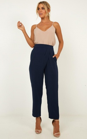 Coming To Terms Pants In Navy