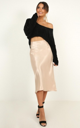 Creating Art Skirt In Champagne Satin