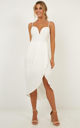 Darling Listen Dress In White