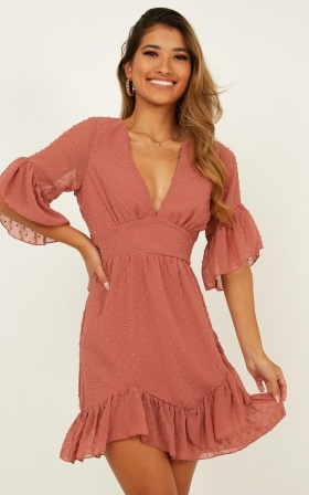 Faded Love Dress In Dusty Rose