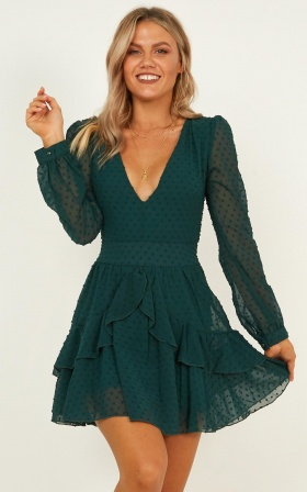 For A Rainy Day Dress In Emerald