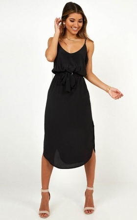 Get Things Done Dress In Black