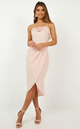 Give Me Attention Dress In Blush