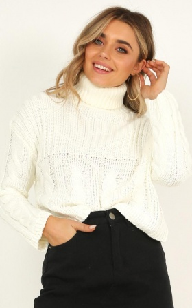 Hard To Be Cool Knit Jumper In Cream