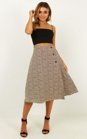 In The Fields Skirt In Pebble Print