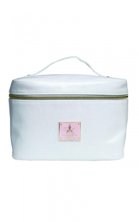 Jeffree Star Cosmetics - Travel Bag In White Glitter