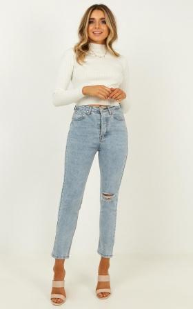 Jessie Jeans in light blue denim