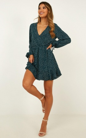 Keep It Smart Dress In Emerald Spot
