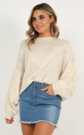 Little Melody Knit Jumper In Cream