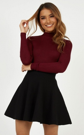 Lust For Life Knit Top In Wine