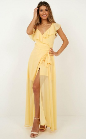 Luxury Life Maxi Dress In Lemon