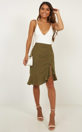 Never Forget Skirt In Khaki