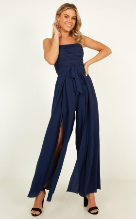 Oceans Way Jumpsuit In Navy