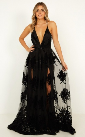 Promenade Maxi Dress In Black