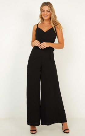 Whispering To You Jumpsuit In Black