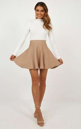 Real Deal Skirt In Mocha