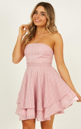 Small Wonders Dress In Blush