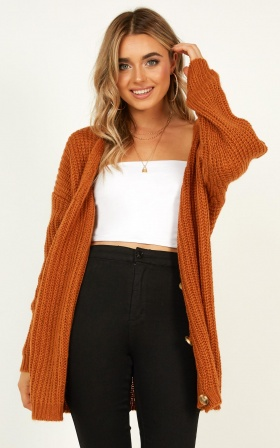 Stories For Days Knit Jumper In Rust
