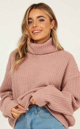 Un resolved Knit Jumper In Blush