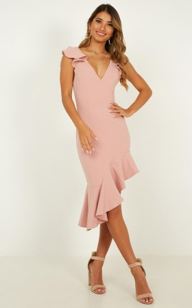 Wild Angel Dress In Blush