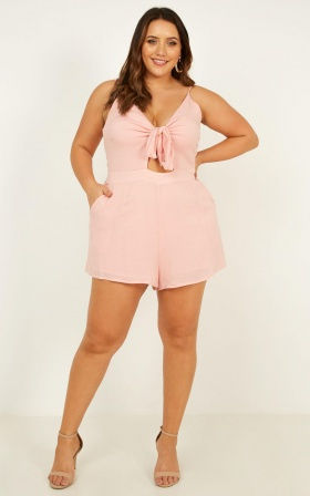 a18f809c8d8 ... Tricky Love Playsuit In Blush ...