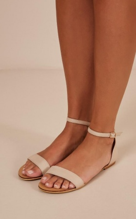 Verali - Bailey Sandals In Nude Smooth