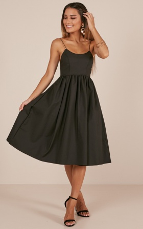 Wild Nights Dress In Black