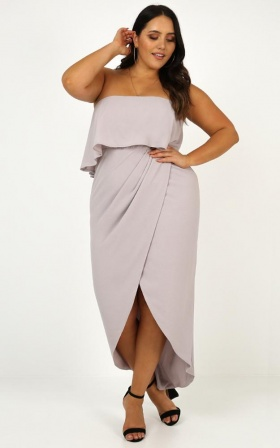 With Flying Colours Dress In Grey