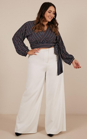 You Make It Easy Top In Navy Stripe