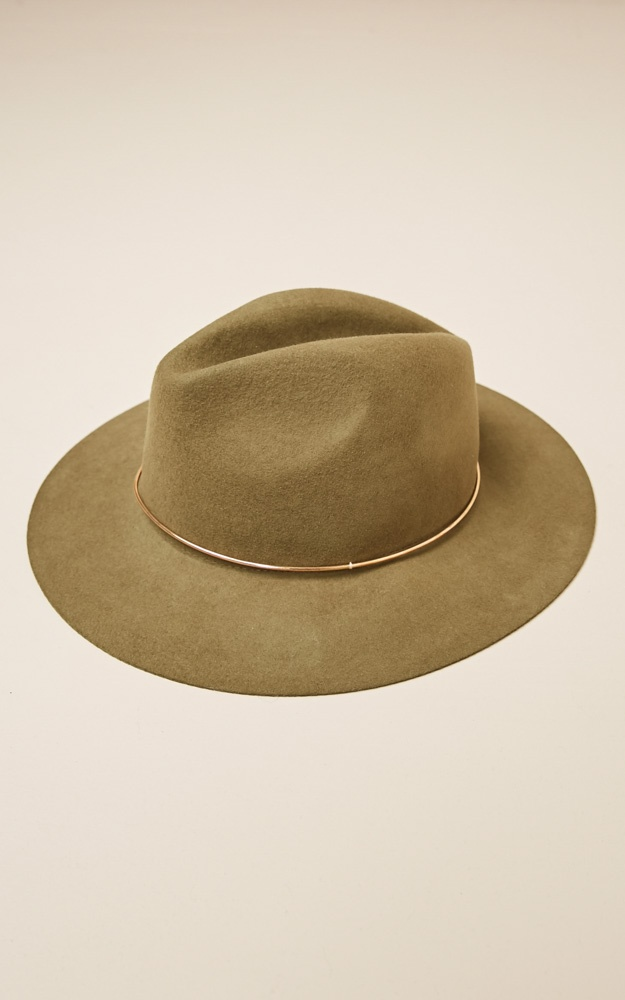 41dca8f2b52211 Now Im Home wool felt hat in khaki | Showpo