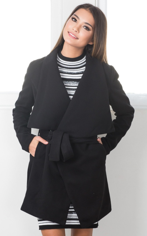 100% authentic e953b 80184 In An Instant Trench Coat In Black