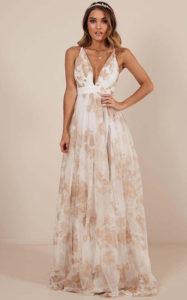 bd79f8df6c Lifes A Breeze Maxi Dress In White Floral