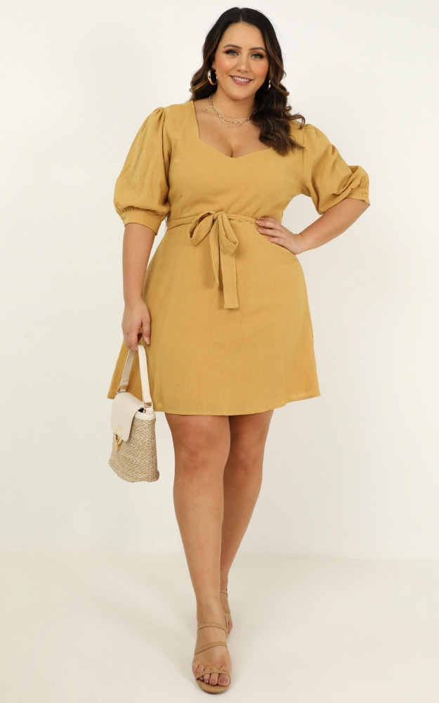 Born Fighter Dress in Mustard by Showpo | Stay at Home Mum