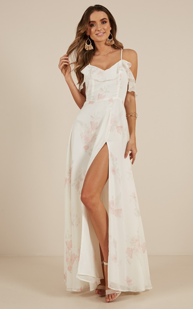 Sway Away maxi dress in White Floral | Showpo
