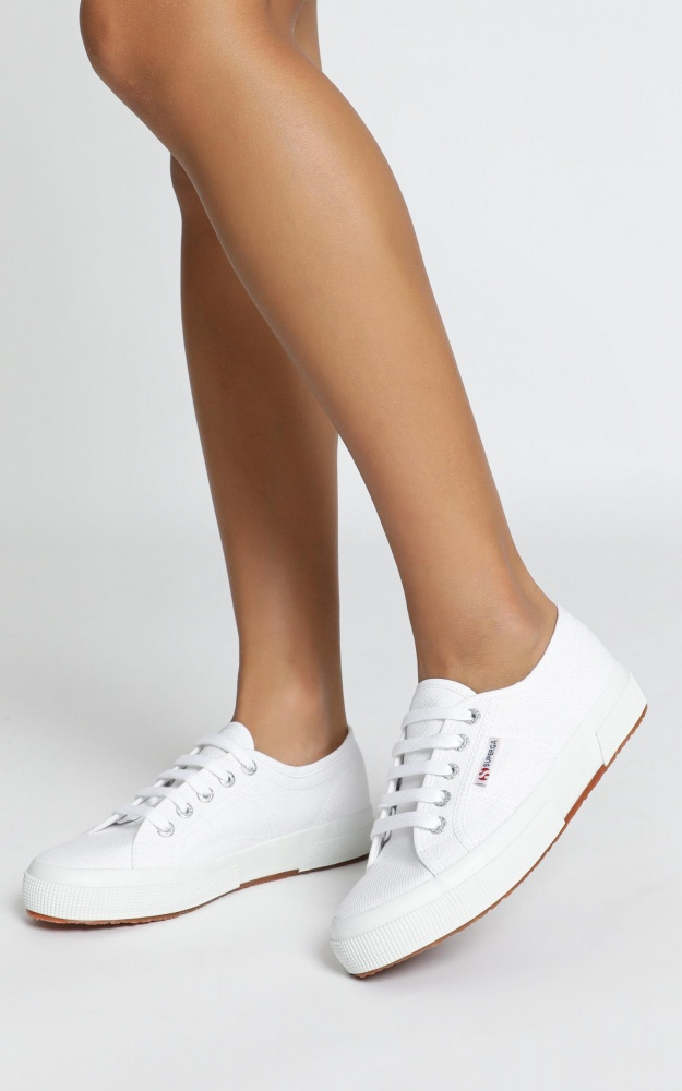 Superga - 2750 Cotu Classic Sneakers In White Canvas 7