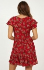 0411be3a67d Floating Wishes Dress In Red Print