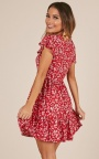 9bdf140fa63 Floating Wishes Dress In Red Floral